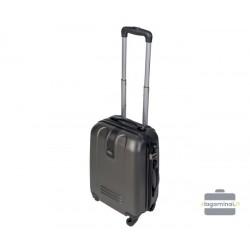 Mažas plastikinis lagaminas Gravitt 168-M Tamsiai pilkas