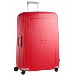Labai didelis plastikinis lagaminas Samsonite S-Cure LD Raudonas (Crimson Red)