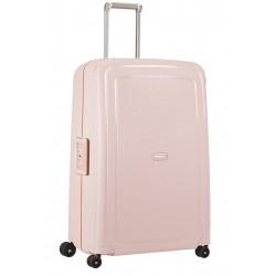 Labai didelis plastikinis lagaminas Samsonite S-Cure LD Rožinis