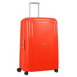 Labai didelis plastikinis lagaminas Samsonite S-Cure LD Raudonas (Fluo Red Capri)