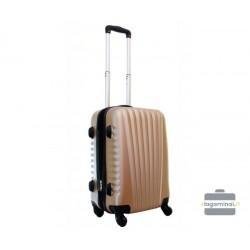 Mažas plastikinis lagaminas Gravitt 888-M Šampaninė spalva