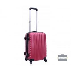 Mažas plastikinis lagaminas Gravitt 888-M Tamsiai raudonas