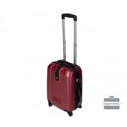 Mažas plastikinis lagaminas Gravitt 168-M Tamsiai raudonas