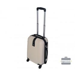 Mažas plastikinis lagaminas Gravitt 168-M Kreminė spalva