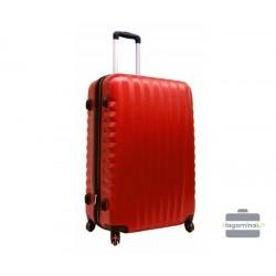 Vidutinis plastikinis lagaminas Gravitt 888-V Raudonas