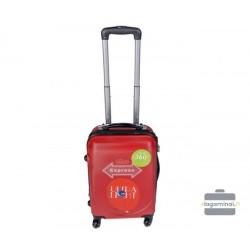 Mažas plastikinis lagaminas Gravitt-310-m-raudonas
