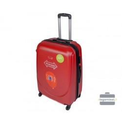 Didelis plastikinis lagaminas Gravitt 310-D Raudonas