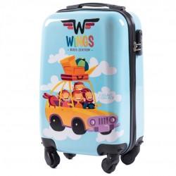 Mažas plastikinis lagaminas Wings PC-KD01-CAR-S
