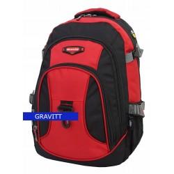 Kuprinė 15,6 colio kompiuteriui Gravitt 9618 Juoda/raudona