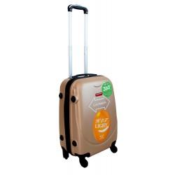Vaikiškas plastikinis lagaminas Gravitt 310-S Šampano spalva