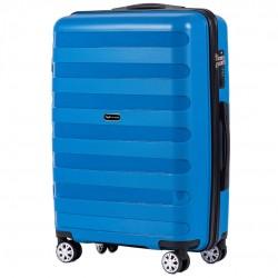 Vidutinis plastikinis lagaminas Wings PP07-V Mėlynas