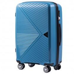 Vidutinis plastikinis lagaminas Wings PP06-V Mėlynas