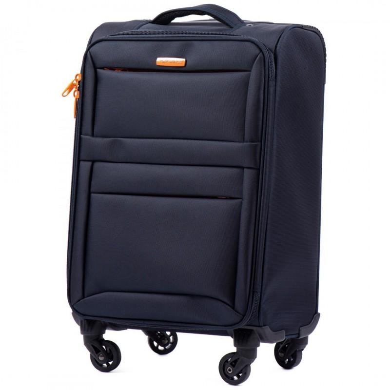 Mažas medžiaginis lagaminas Wings 2861-M Tamsiai mėlynas