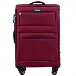 Didelis medžiaginis lagaminas Wings 2861-D Tamsiai raudonas