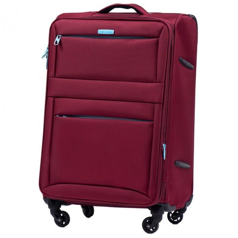 Vidutinis medžiaginis lagaminas Wings 2861-V Tamsiai raudonas