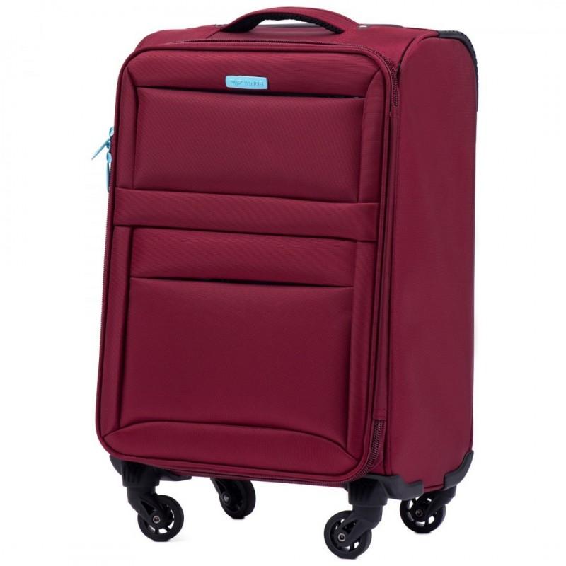 Mažas medžiaginis lagaminas Wings 2861-M Tamsiai raudonas