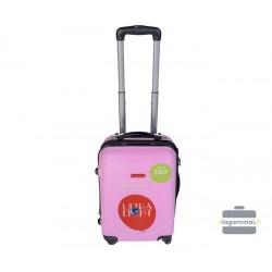 Mažas plastikinis lagaminas Gravitt 310-M Rožinis