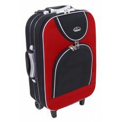 Mažas medžiaginis lagaminas Suitcase 801-M Juodas/raudonas