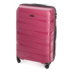 Didelis plastikinis lagaminas Wittchen 56-3T-793-D Tamsiai rožinis