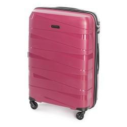 Vidutinis plastikinis lagaminas Wittchen 56-3T-792 Tamsiai rožinis