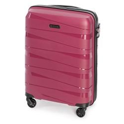 Mažas plastikinis lagaminas Wittchen 56-3T-791 Tamsiai rožinis