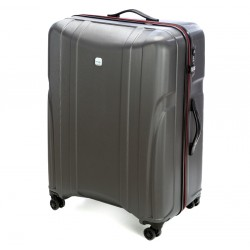 Labai didelis plastikinis lagaminas Wittchen 56-3P-915 Tamsiai pilkas