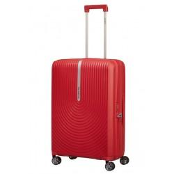 Vidutinis plastikinis lagaminas Samsonite HI-FI V Raudonas