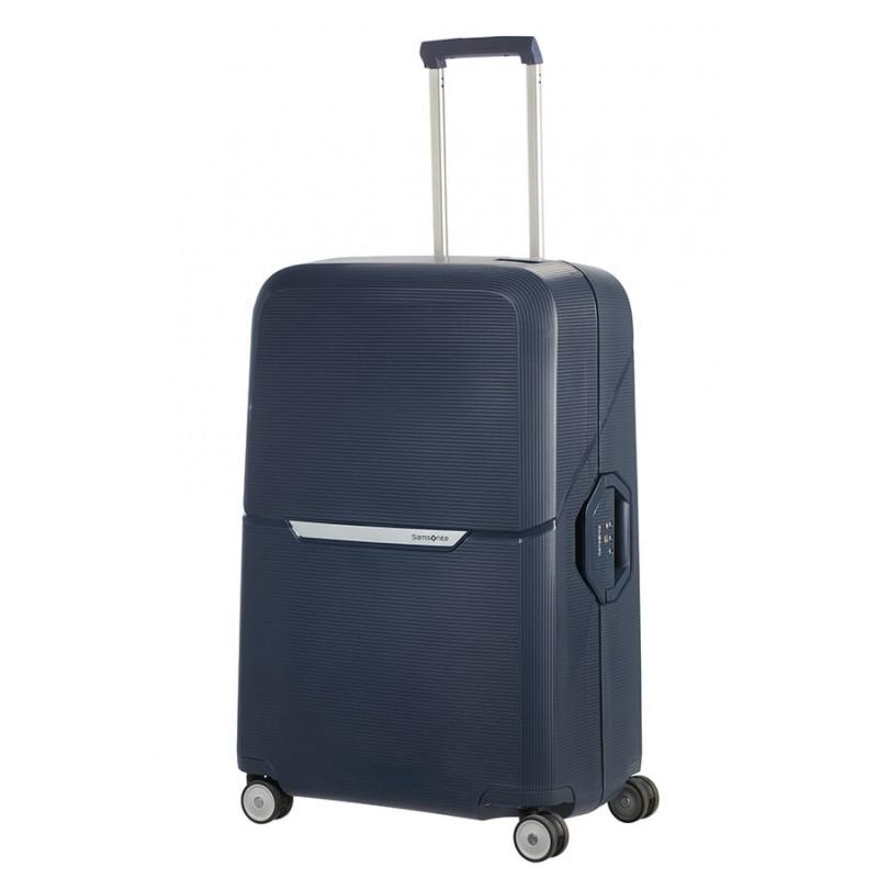 Didelis plastikinis lagaminas Samsonite Magnum D Mėlynas (Dark Blue)