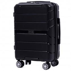 Mažas plastikinis lagaminas Wings PP05-M Juodas