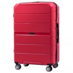 Didelis plastikinis lagaminas Wings PP05-D Raudonas