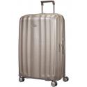 Labai didelis plastikinis lagaminas Samsonite Lite-Cube LD Šviesiai pilkas (Ivory gold)