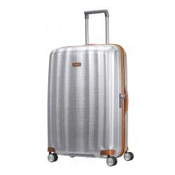 Labai didelis plastikinis lagaminas Samsonite Lite-Cube DLX LD Šviesiai pilkas (Aluminium)