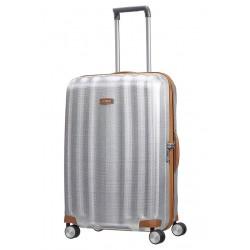 Didelis plastikinis lagaminas Samsonite Lite-Cube DLX D Šviesiai pilkas (Aluminium)