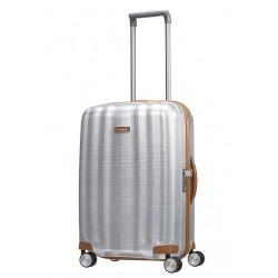 Vidutinis plastikinis lagaminas Samsonite Lite-Cube DLX V Šviesiai pilkas (Aluminium)