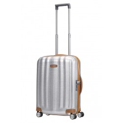 Mažas plastikinis lagaminas Samsonite Lite-Cube DLX M Šviesiai pilkas (Aluminium)