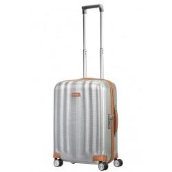 Mažas plastikinis lagaminas Samsonite Lite-Cube DLX M23 Šviesiai pilkas (Aluminium)