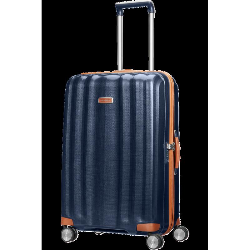 Didelis plastikinis lagaminas Samsonite Lite-Cube DLX D Mėlynas (Midnight Blue)
