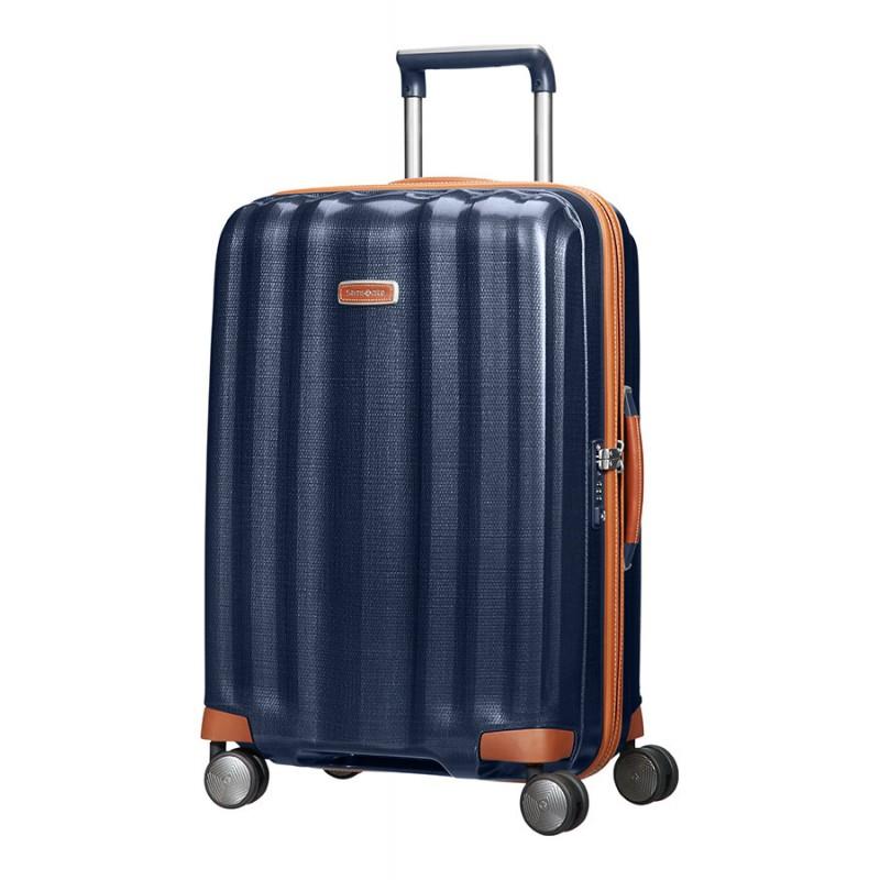 Vidutinis plastikinis lagaminas Samsonite Lite-Cube DLX V Mėlynas (Midnight Blue)