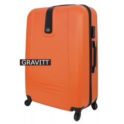 Vidutinis plastikinis lagaminas Gravitt 168A-V Oranžinis