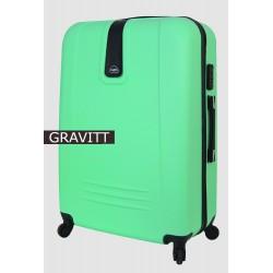 Didelis plastikinis lagaminas Gravitt 168A-D Šviesiai žalias