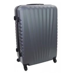 Vidutinis plastikinis lagaminas Gravitt 888A-V Tamsiai pilkas