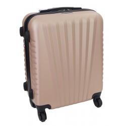 Mažas plastikinis lagaminas Gravitt 888A-M Šampano spalva