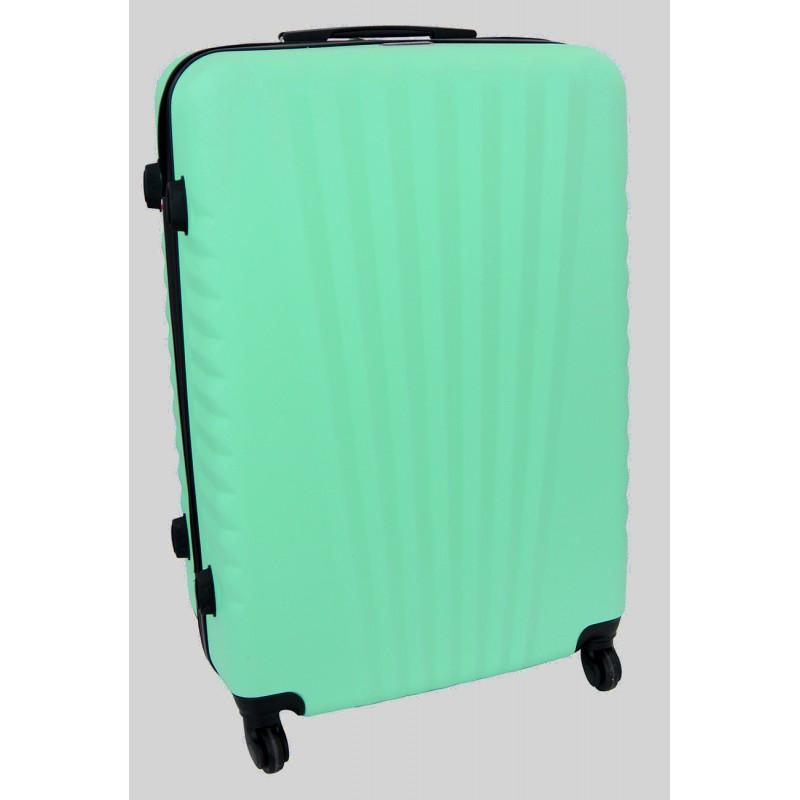 Vidutinis plastikinis lagaminas Gravitt 888A-V Šviesiai žalias