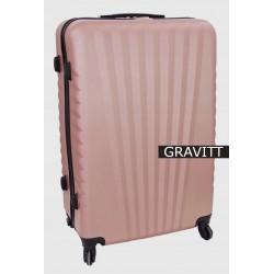 Vidutinis plastikinis lagaminas Gravitt 888A-V Rožinis