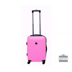Mažas plastikinis lagaminas Gravitt 866-M Rožinis