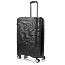 Didelis plastikinis lagaminas Swissbags Jaipur-D Juodas
