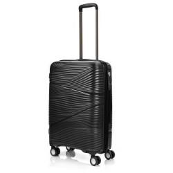 Vidutinis plastikinis lagaminas Swissbags Jaipur-V Juodas