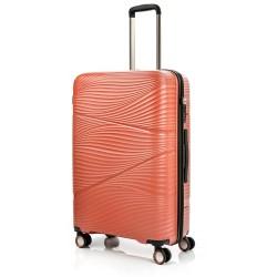 Didelis plastikinis lagaminas Swissbags Jaipur-D Oranžinis