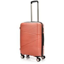 Vidutinis plastikinis lagaminas Swissbags Jaipur-V Oranžinis