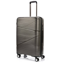 Didelis plastikinis lagaminas Swissbags Jaipur-D Pilkas